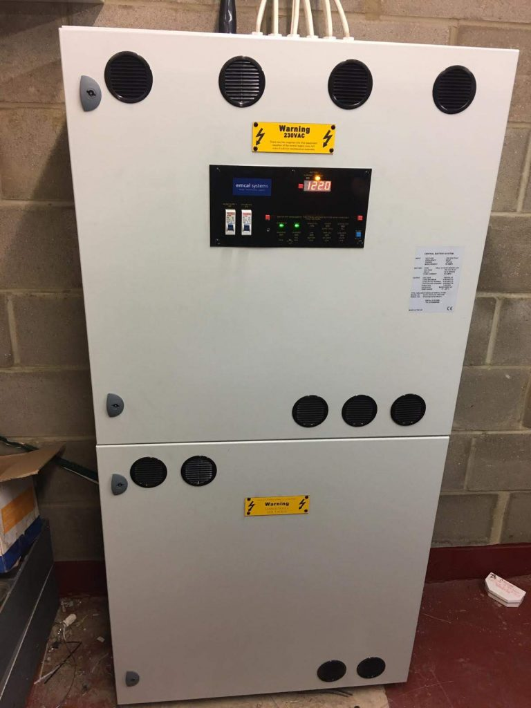 emcal systems bespoke off-grid backup power supply for emergency lighting